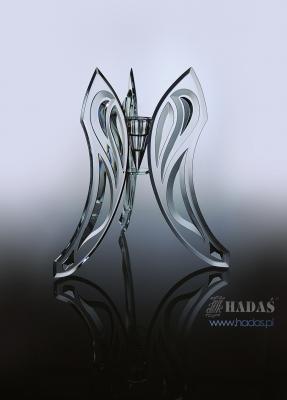 glass candlestick - HADAS Pracownia Witrazy
