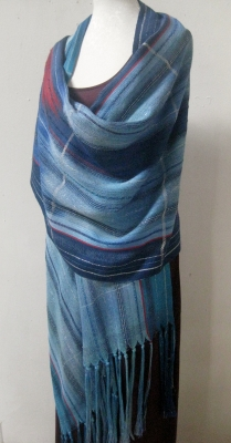 Moonlit sea silk stole