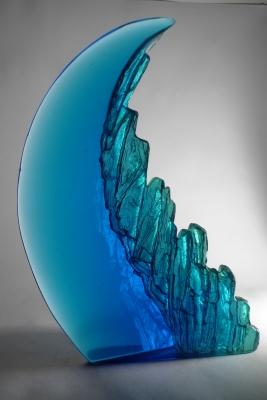 Crispian Heath - crh 245 cast glass 29 x 15 x 8cm