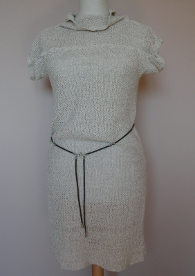 Dress natural linen design and execution bogumi a adamska