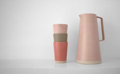 Laura Magahy - Ase pink grapefruit jug beaker set