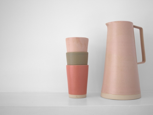 Laura Magahy - Ase pink grapefruit jug beaker set