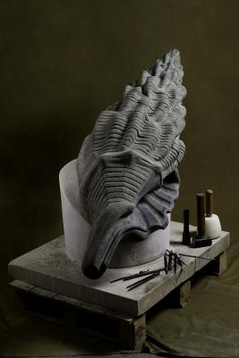 Conch shell fountain by josh locksmith