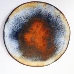 1 a denison large brooch enamelled steel rusted