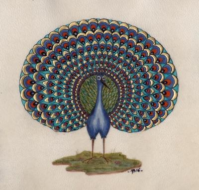 Annie Bouyer - Paon bleu