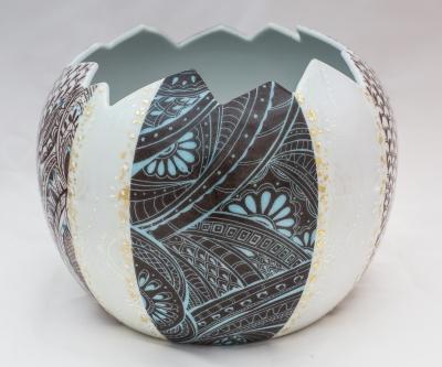 Photophore porcelaine atelier porcelaine