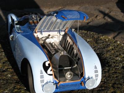 Compartiment moteur Bugatti 57 G 1936