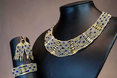 Parure nefertiti lapis lazuli