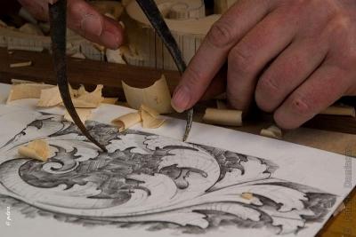 Balustre principal scupte en bois - Patrick Damiaens Sculpteur Ornemaniste Belgique