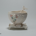 Inspiration chine ceulemans valerie bol porcelaine plaque de cors engobes or