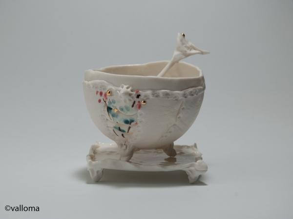 Inspiration chine ceulemans valerie bol porcelaine plaque de cors engobes or