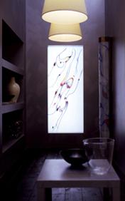 Vetrata lampada sinuosity fusione