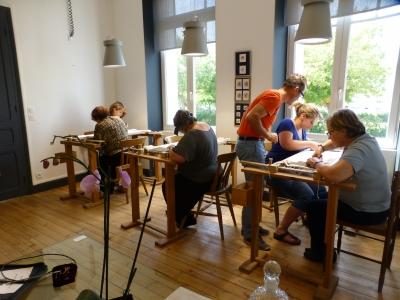 Stage de broderie d'art à l'Atelier du Bégonia d'Or