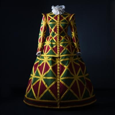 Costume robe arlecchina creation et conception de l atelier la colombe rita tatai strasbourg jpeg