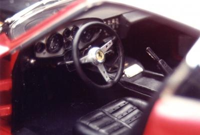 Habitacle Ferrari Daytona en peau d'agneau