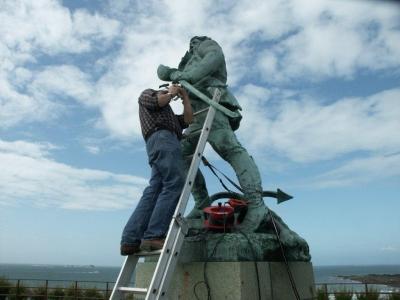 Restauration de statue surcouf st malo