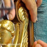 Restauro divano impoero veluto lino ernesto contessa