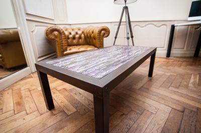 Table basse réduite