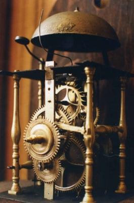 Mecanisme d une horloge hollandaise du 18eme siecle