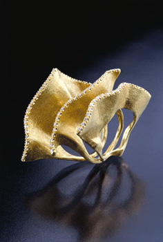 laura balzelli 22anello vela22 anello composto da tre elementi in oro e diamanti