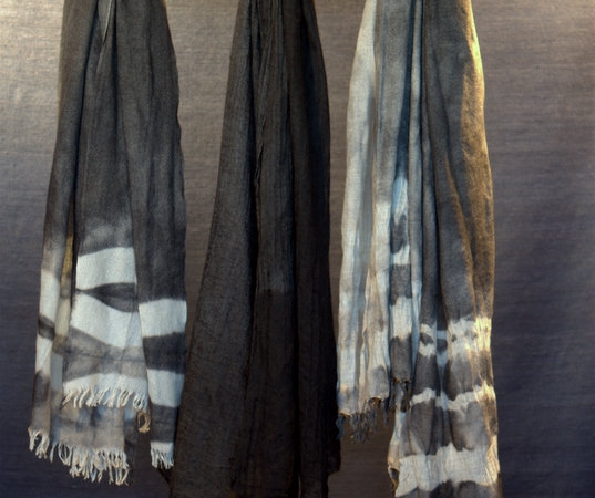 Pashmina cashmere seta elaborazione shibori