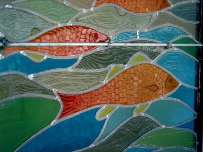 Vitrail bouchard chez lomax detail poisson