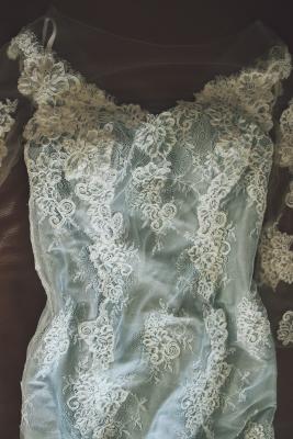 Fee au chateau robe dentelle soie