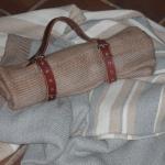 Mantas de sof viaje alpaca gris camel