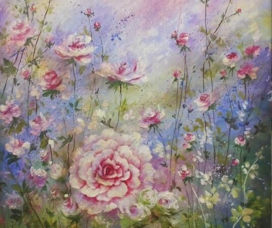Una tela in fiore