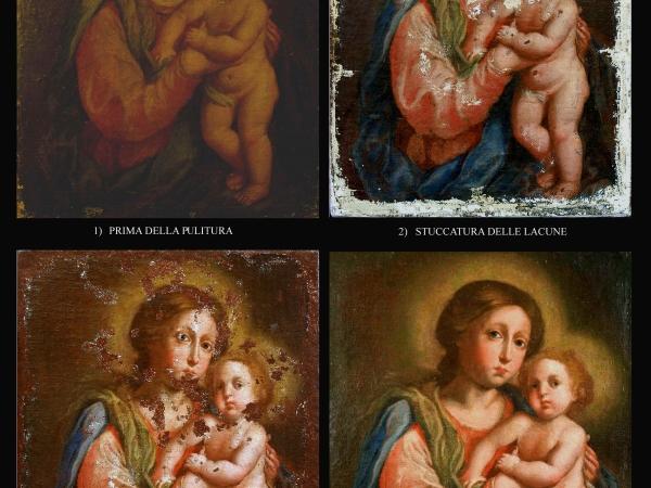 Fasi di un restauro pittori