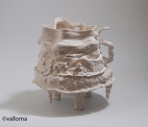 Inutile et pleine de grace porcelaine or colombin pinching plaque moulage
