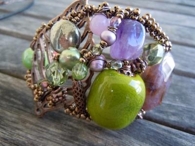 Bracelet bracelet baroque vert et mauve 1442145 dscn0726 c29d1 big