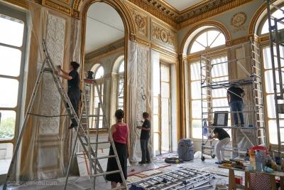 Conseil Constitutionnel, Paris, restauration de la peinture et des gyperies du Bureau du Président (2015)