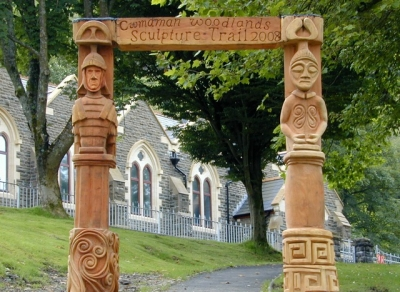 Roman and Celtic Gateway - Cwmaman International Sculpture Symposium