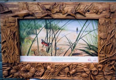 Hand Carved Green Oak Frames - Interpretive Oak Frames (1 of 5) - Ynis las - Aberystwyth