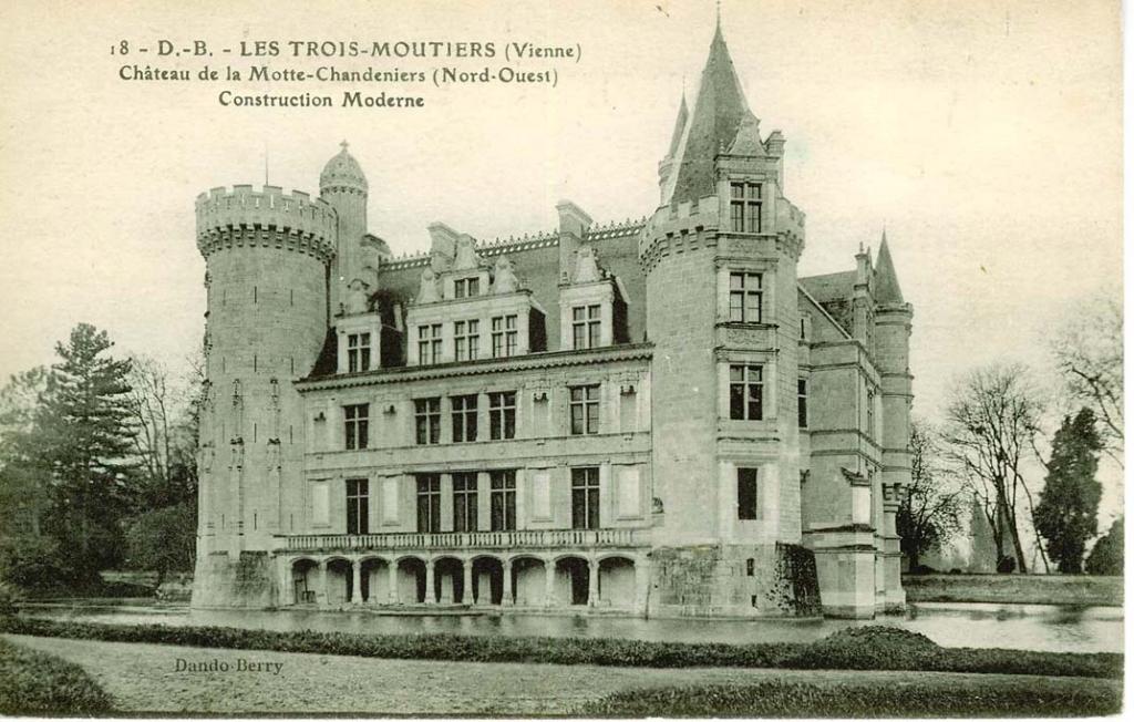 Les trois moutiers château de la mothe chandeniers nord ouest