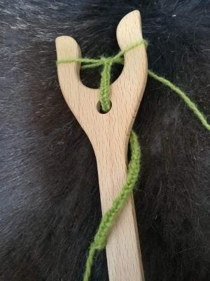 Lucet knitting fork