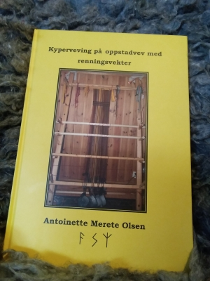 The book I wrote in norwegian about weaving twill on the warp-weighted loom