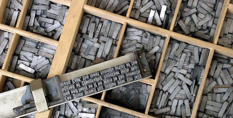 Metal movable type rec