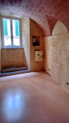 "Creation of a New flooring in ""cocciopesto"", Palace in the old town (Siena, Italy)"
