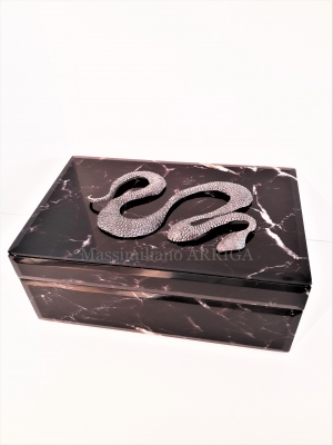 Silver snake on the box  euro 770,00