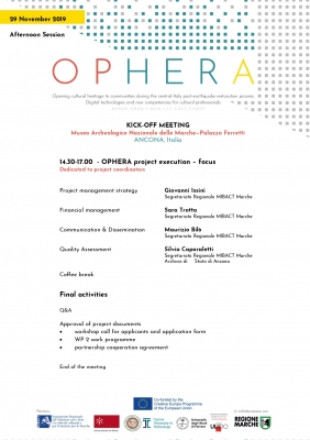 Ophera project kick-off meeting agenda