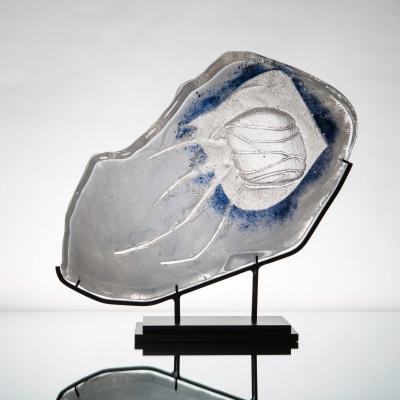 REbirth, glass, sandcasting, 45 x 37cm, 2017