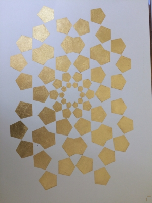 Impression à la feuille d'or