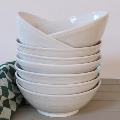 Pasta bowls rustic dinner set