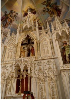 retablo madera pintada