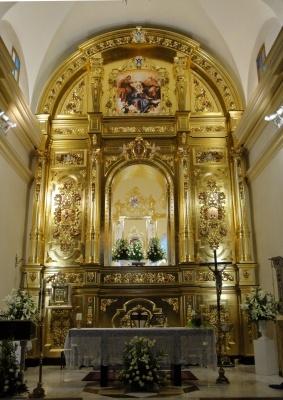 retablo madera y pan de oro