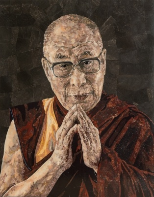 His Holiness the Dalai Lama in Pietra Dura