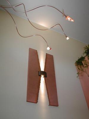 Illuminazione di interni in rame