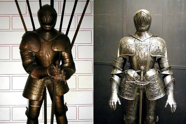 Restauro di armatura neogotica